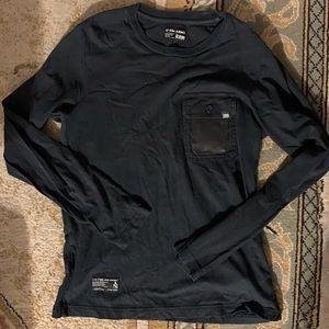 Izzue Black Long sleeve tee with Camo Print